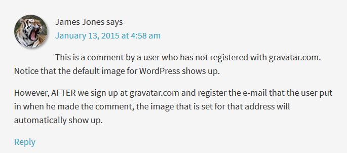 Gravatar Pulled from Database