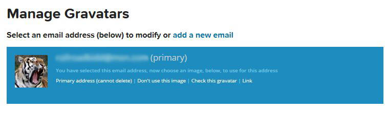 Gravatar Associated with E-mail